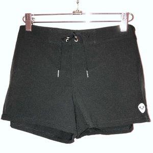 Matte black Roxy swim short, swim cover up